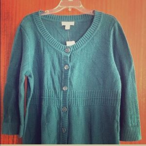 NWT Christopher & Banks Teal Sweater Size XL